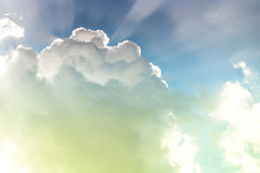 Sky. Bright cloud with white light in sky Royalty Free Stock Images