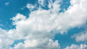 Sky. Bright cloudy in blue light sky Royalty Free Stock Images