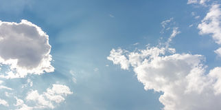 Sky. Bright sky with white light from sun behind clouds Royalty Free Stock Photography