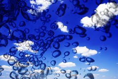 Sky and bubbles Royalty Free Stock Photos