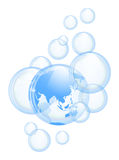 Sky and bubbles background Royalty Free Stock Photography