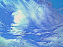 Sky bubbles Royalty Free Stock Image