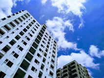 Sky. From building bottom Stock Photography
