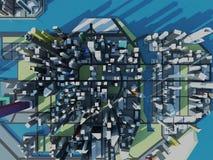 Sky building City bird eye view Stock Photography