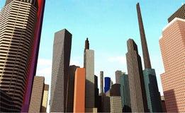 Sky building City landscape Stock Images