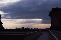 Sky and buildings from Berlin stock photography