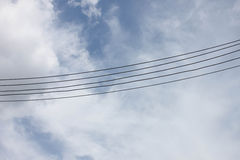 Sky and Cable Royalty Free Stock Photo