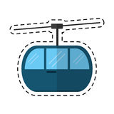 Sky cable car transport mountain cutting line Royalty Free Stock Images