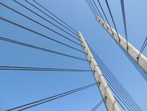 Sky, Cable Stayed Bridge, Bridge, Overhead Power Line Stock Photos