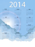 Sky calendar. Vector illsutration background Royalty Free Stock Photo