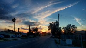 Sky. Cali sunset hemet sky hdr Royalty Free Stock Images