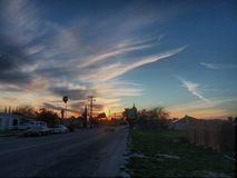 Sky. Cali sunset hemet sky hdr Royalty Free Stock Image