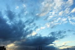 the sky in California, beautiful cloud, sunset,Los Angeles royalty free stock photos