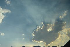 Sky at Canmore Canada. This photo has taken at the Ski lodge hotel in canmore Canada Stock Photography