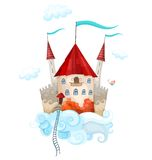 Sky castle. Vector illustration with a sky castle Royalty Free Stock Image