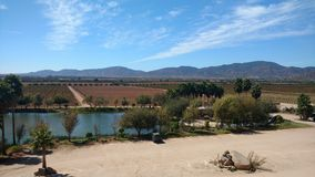 Sky cielo. Farm view lake lago royalty free stock image