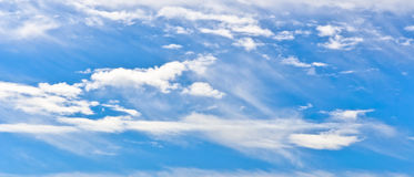 Sky with cirrus clouds Royalty Free Stock Photos