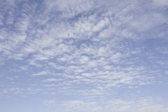 Sky and cirrus clouds Royalty Free Stock Photography