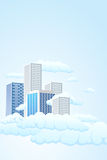 Sky city Stock Images