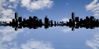 Sky And City Background Royalty Free Stock Photos