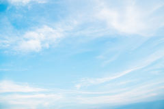 The sky is clear. Blue sky with clouds background lines intersect Stock Photos