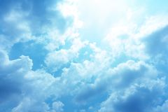 The sky on a clear day royalty free stock photos