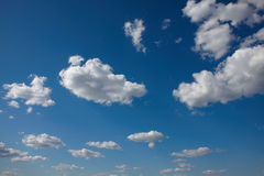 Sky with cloud. Blue sky with cloud closeup Stock Photo