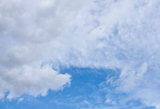Sky and cloud. The cloud in the color blue sky background Royalty Free Stock Image