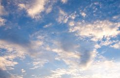 Sky and cloud. The cloud in the color blue sky background Stock Photography