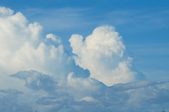 Sky and cloud. Image of sky and cloud, used to background Stock Photos