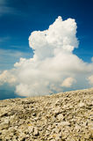 Sky and cloud. Blue sky and white clouds, mountain,nature,Europe Stock Photos