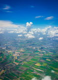 Sky and Cloud. Aerial shot shot from airplane windows Royalty Free Stock Images