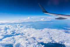 Sky and Cloud from airplane. Sky and clouds seen from the window of an airplane, from above Royalty Free Stock Photo
