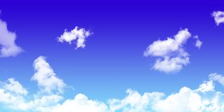 Sky with cloud. background. natural texture of bright blue  Stock Photo