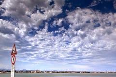 Sky cloud on the Beach of Rimini Stock Image