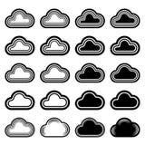 Sky cloud black symbols Royalty Free Stock Photo