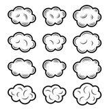 Sky cloud black symbols Stock Image