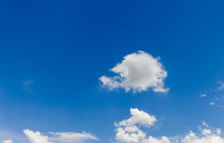 Sky with cloud. And blue background Royalty Free Stock Photography