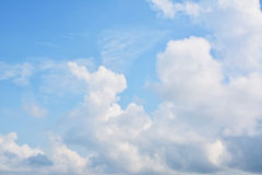 Sky cloud. Blue Sky and cloud Background Royalty Free Stock Photos