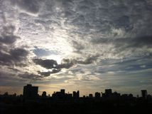 Sky. Cloud blue city silhouette bkk bangkok Royalty Free Stock Photos