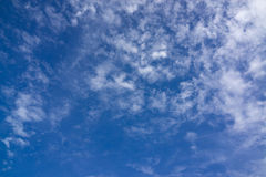 Sky with cloud. Blue sky with fluffy white cloud Stock Image