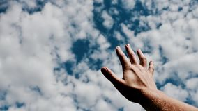 Sky, Cloud, Blue, Hand Stock Images