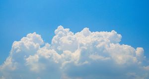 Sky and Cloud. On the bright Royalty Free Stock Images