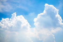 Sky and Cloud. On the bright Royalty Free Stock Photos