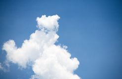 Sky and Cloud. On the bright. Background and Texture Stock Image