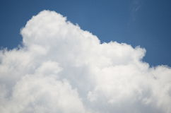 Sky and Cloud. On the bright. Background and Texture Royalty Free Stock Photography