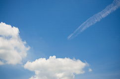 Sky and Cloud. On the bright. Background Texture and Pattern Royalty Free Stock Images