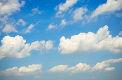 Sky and Cloud. On the bright. Background Texture and Pattern Stock Photo