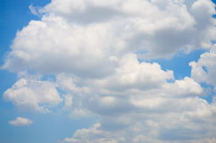Sky and Cloud. On the bright. Background Texture and Pattern Stock Photos