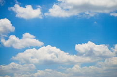 Sky and Cloud. On the bright. Background Texture and Pattern Stock Images